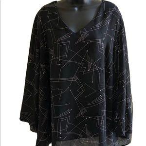 giorgio fiorelli abstract blouse 26/28